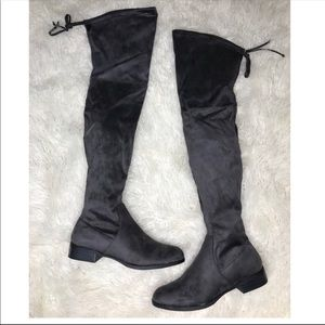 Catherine Malandrino Gray Over The Knee Boots